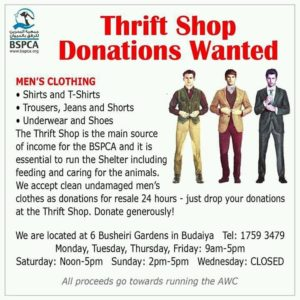 BSPCA Thrift Shop donations