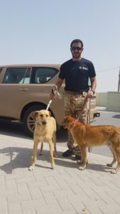 HH Sheikh Khalid w BSPCA dogs