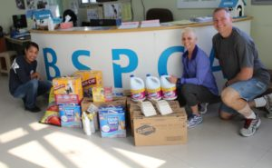 US Naval Central Command - BSPCA donation